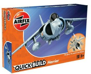 """Brand New Airfix Quick Build """"Fits The Box"""" Hawker Harrier Model Kit."""
