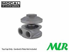 MOCAL 3/4UNF REMOTE OIL FILTER ALLOY CAP MUSHROOM SANDWICH PLATE MLR.AVC