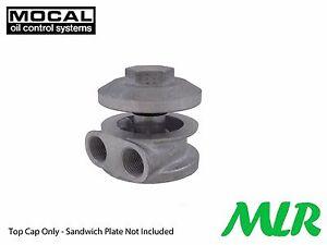 MOCAL M01 3/4UNF REMOTE OIL FILTER SANDWICH PLATE ALLOY MUSHROOM CAP AVC