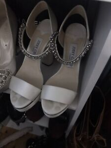 jimmy choo heels With Diamantes Size 36.5 In White