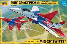 "MIG-29 ""SWIFTS"" AEROBATIC TEAM ZVEZDA PLASTIC KIT 1/72"