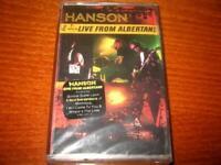 HANSON - LIVE FROM ALBERTNE MADE IN BULGARIA CASSETTE Bulgarian Edition NEW RARE
