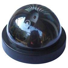 Caméra Dôme Factice Flash LED Vidéo Surveillance CCTV Fauss Clignotant Extérieur