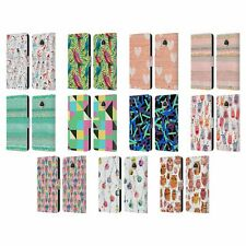 OFFICIAL NINOLA PATTERNS 2 LEATHER BOOK WALLET CASE COVER FOR MOTOROLA PHONES