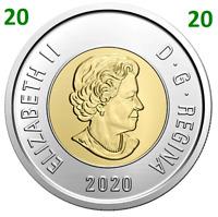 🇨🇦 2020 New Canada Toonie 2 Dollars BU Coin Polar Bear Bi-Metallic, UNC 2020