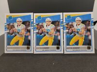 3 CARD LOT JUSTIN HERBERT 2020 DONRUSS RATED ROOKIE #303