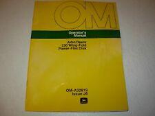 John Deere 230 Wing-Fold Power Flex Disk Operator's Manual , OM-A32819 J6