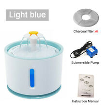 2.4L LED Automatic Electric Pet Water Fountain Dog / Cat Drinking Bowl Waterfall