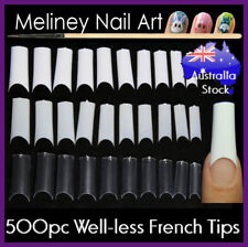 500Pc Well-less French Nail Tips False Gel Acrylic Long C Curve European Square
