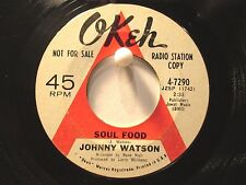 """Johnny """"Guitar"""" Watson Okeh 4-7290  Soul Food b/w I'd Rather Be Your Baby  Promo"""