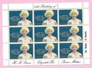 PITCAIRN ISLS. 1980 - THE QUEEN MOTHER'S 80th BIRTHDAY Souvenir Sheetlet - MNH