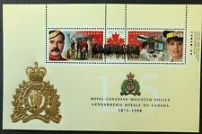 CANADA 1998 # 1737b ROYAL CANADIAN MOUNTED POLICE SOUVENIR SHEET OF 2