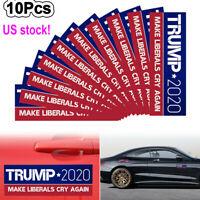 10Pcs Donald Trump Bumper President Sticker 2020 Make Liberals Cry Again USA
