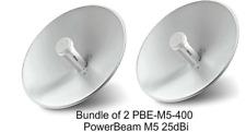 Ubiquiti PBE-M5-400 2-pack PowerBeam M5 5GHz AirMAX CPE 400mm Wireless Bridge