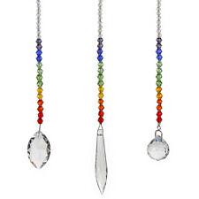 3x Rainbow Maker Crystal Suncatcher Chandelier Ball Prism Pendulum Pendant Decor
