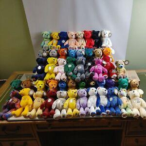 Lot 49 State Quarter Bears Timeless Toys (Missing Louisiana) Beanies Plush