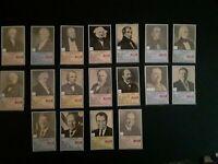 VINTAGE 18 Little Debbie President Trading Cards 1992