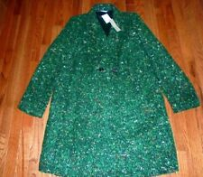 J CREW DAPHNE COAT ITALIAN TWEED GREEN SIZE- 4,10  #H2076 JACKET