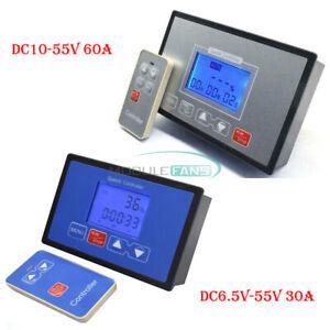 DC6.5V-55V 30A /DC10-55V 60A Wireless remote control DC motor speed controller