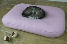 BEAN BAG Cat Pet Bed, Soft Warm Luxury THERMAL Cushion Mattress. Washable Cover.