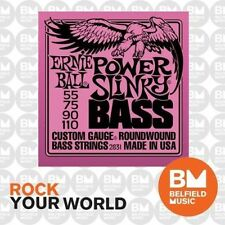 1 Set of Ernie Ball 2831 Power Slinky Bass Strings 55 - 110