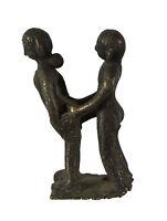 Statuetta Erotico Kamasutra -statuetta Coppia Nudo Locazione Sexy -ottone- S7-