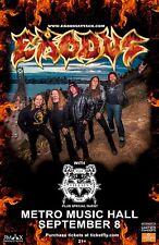 Exodus / Villain 2017 Salt Lake City Concert Tour Poster - Thrash Metal Music