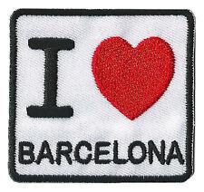 Patche thermocollant écusson transfert I love Barcelona patch Barcelone Barca