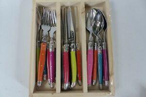 Laguiole Cutlery Set, 18 Piece/6 Place Settings Iridescence