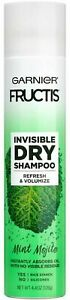 Garnier Fructis Invisible Dry Shampoo,Mint Mojito,No Visible Residue, 4.4 oz