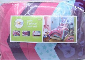 Circo 5 Pc Twin Comforter Star Power Purple Sheets Bedding Blanket Set