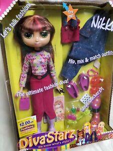 "Vintage Diva Starz Doll ""NIKKI"" 2002 Mattel Collectible Hip Mix & Match Outfit!"