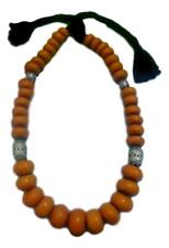 Amber, Magnificent Moroccan Berber Imitation Amber Beaded Necklace.