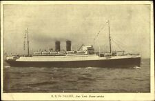 Steamship SS De Grasse Degrasse French Line 1928 Used Postcard