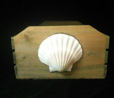 Seashell Vntage Rustic Handcrafted Wooden Display, Storage, Box/Basket/Crate ""