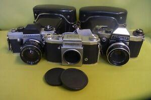 3 Kameras Praktica PL electronic Tessar 2.8/50 Praktica VLC und Praktica FX