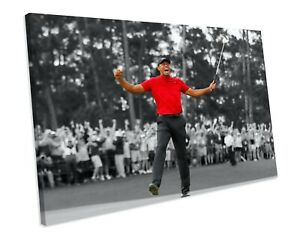 TIGER WOODS 2019 MASTERS WIN GOLF SPORT CANVAS WALL ART BOX FRAMED PICTURE PRINT