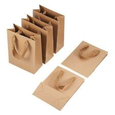 10pcs Kraft Paper Pouch Gift Bag Burly Wood w/ Handle Recyclable Shop Loot Bags