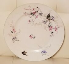 "Antique Haviland Limoges china plate birds flowers rare 8.5"" floral"