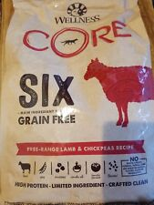 Wellness Core Adult Small Breed Dog Food 4 Lbs Free Range Lamb and Chickpeas