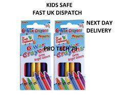 Crayola 6 OR 24 Assorted Wax Crayons Colouring Crayons 0006 and 0048