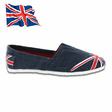 Mens Union Jack Flag GB Summer Beach Espadrilles Elasticated Slip On Shoes