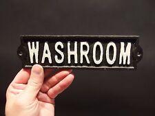 Vintage Antique Style Cast Iron Bathroom Mens Womens Washroom Sign