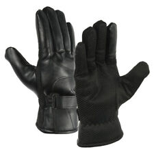 Mens Touch Screen Leather Gloves Winter Thermal Outdoor Driving Gloves Windproof