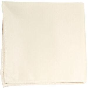 New Men's Polyester pocket square hankie only ivory prom wedding