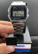 Vintage Casio A158W Sport World Time Alarm Water Resist Mens Watch Works!
