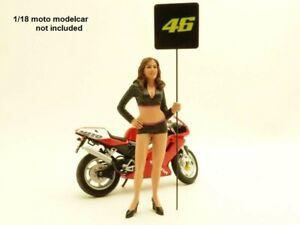 FIGURINE PIN UP PADDOCK GIRL n°46 1/18 Valentino Rossi