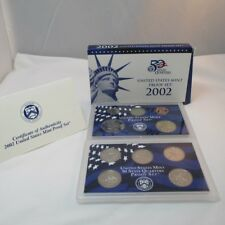 2002 Proof Set US Coins 10 piece 2 Tray