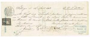 Switzerland REVENUE STAMP(1859 GENEVE)-BANQUE COMMERCIALE GENEVOISE(strai