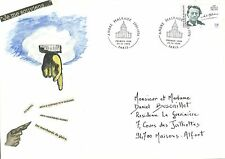 "Enveloppe  "" MAIL ART "" grand format - ""  ANDRE MALRAUX """